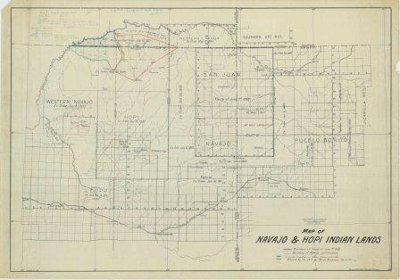Map Of Colorado River In Arizona.Little Colorado River Basin Adjudication Arizona Historical